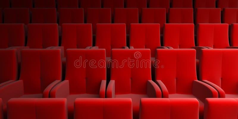czerwone miejsca audytorium royalty ilustracja