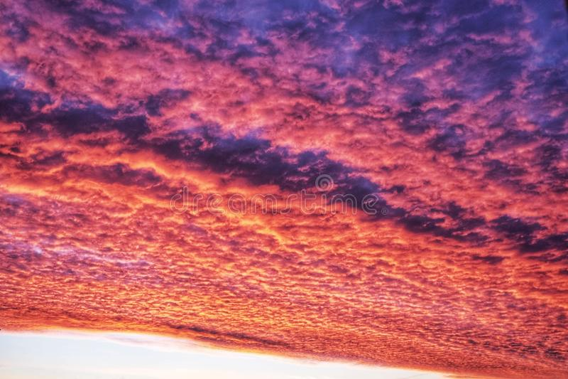 czerwone niebo obraz royalty free