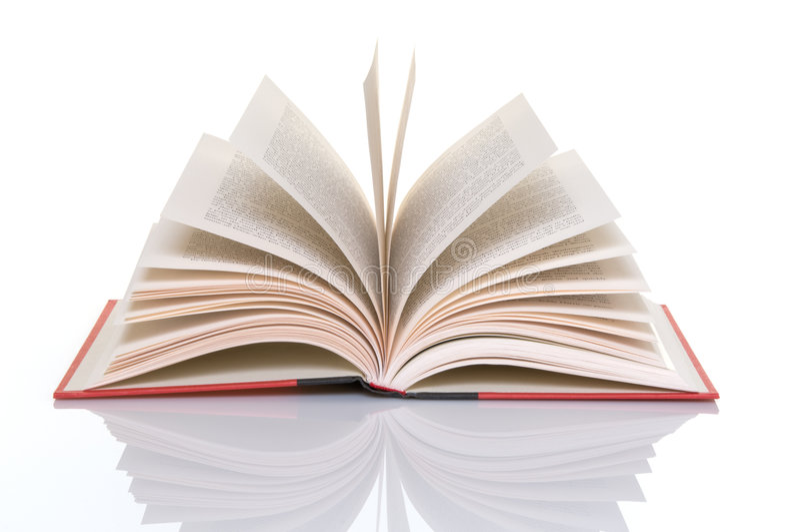 czerwone otwarte książek strony zdjęcia stock