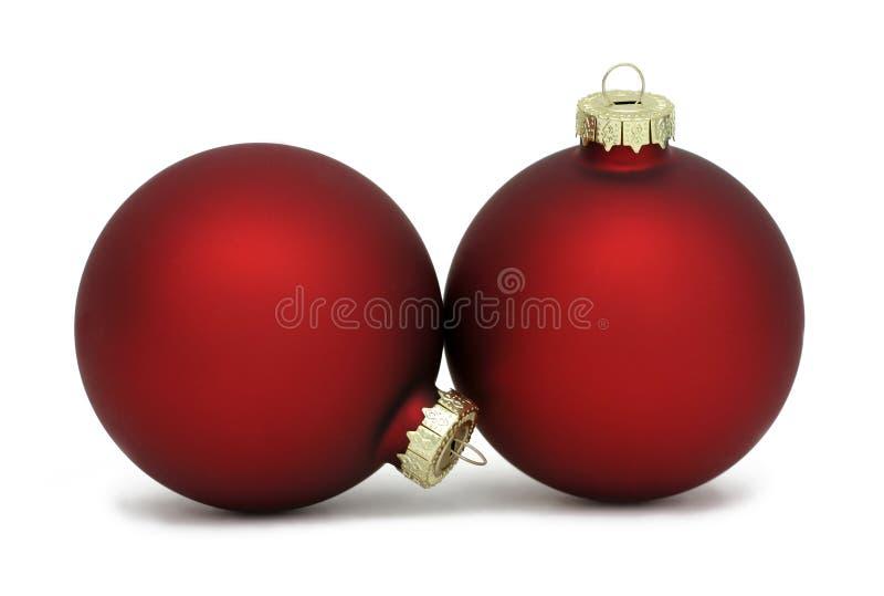 czerwone ozdoby świąteczne zdjęcie stock