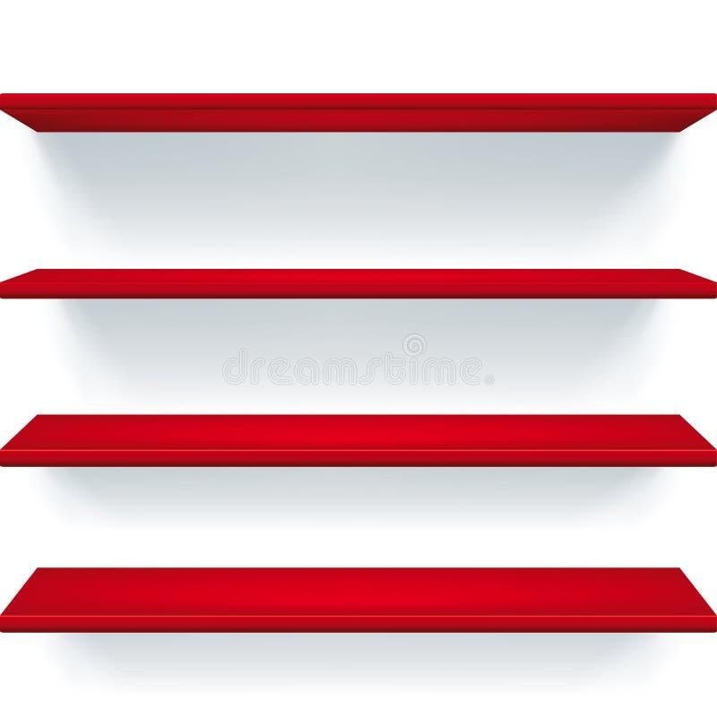 Czerwone półki royalty ilustracja