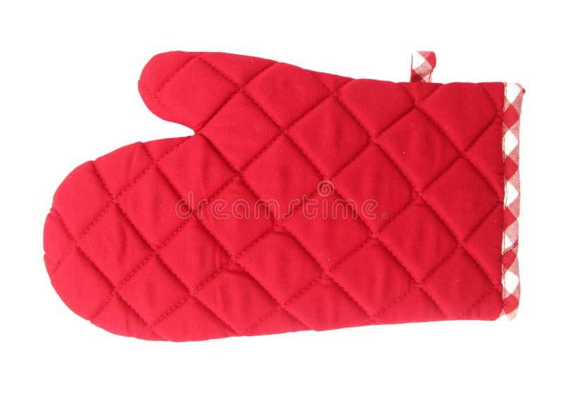 Czerwone piekarnik rękawiczki obraz stock