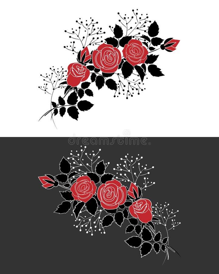 Czerwone róże ilustracji