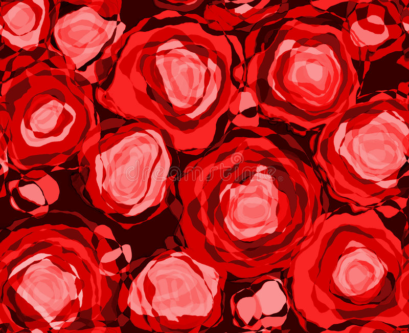 czerwone róże abstrakcyjnych ilustracja wektor