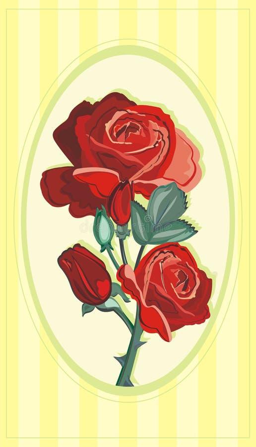 Download Czerwone róże ilustracja wektor. Ilustracja złożonej z wzór - 28951994
