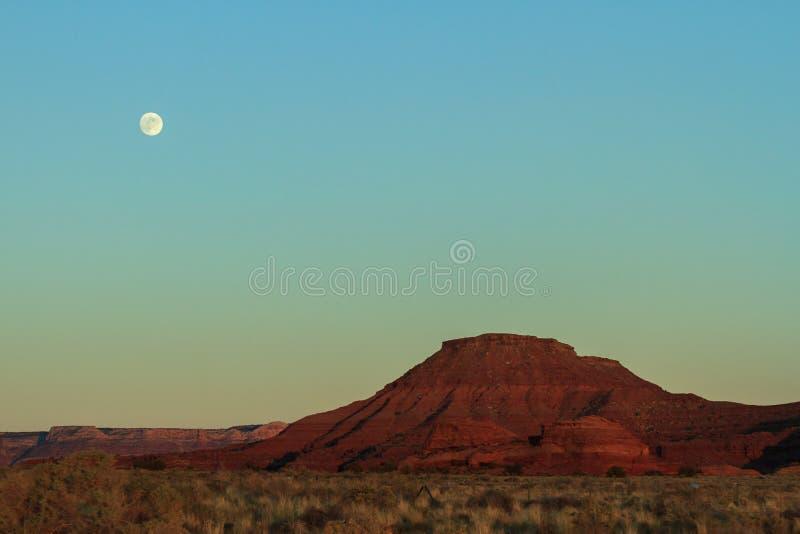 Czerwone Rockowe formacje Blisko Canyonlands parka narodowego, Utah Moonr obrazy royalty free