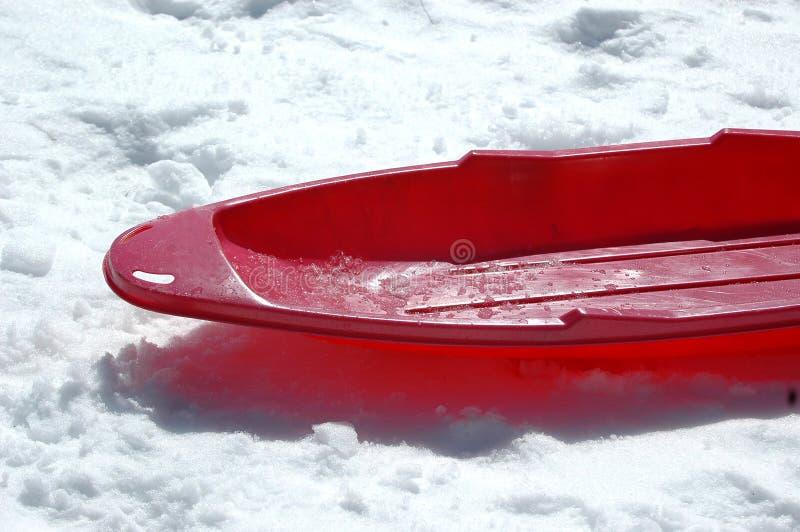 czerwone sanki zdjęcie royalty free