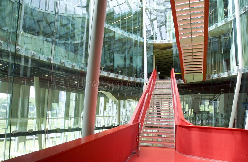 czerwone schody zdjęcia stock