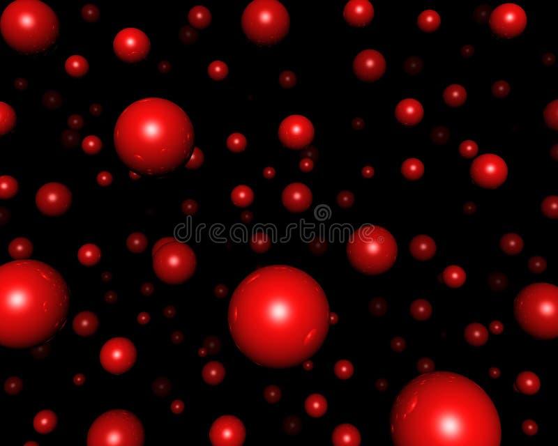 czerwone sfery ilustracja wektor