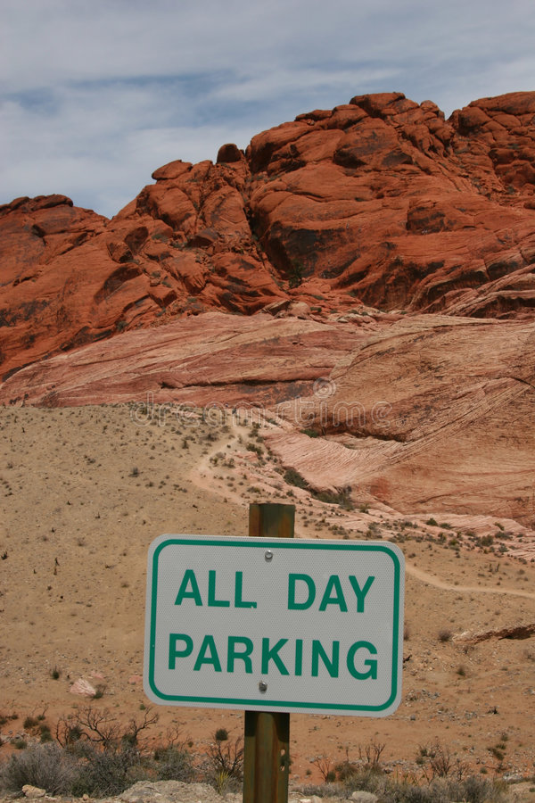 czerwone skały canyon parkingu obrazy stock