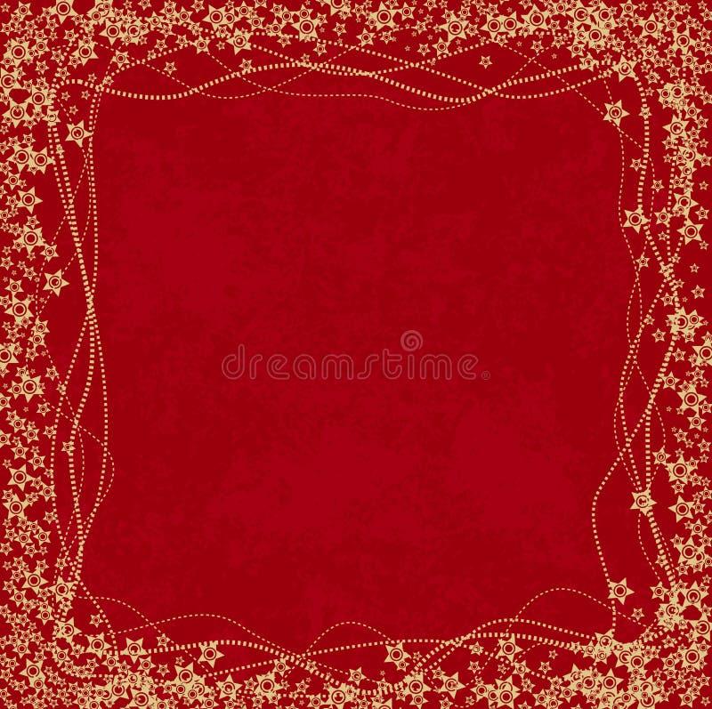 czerwone tło dekoracyjna royalty ilustracja
