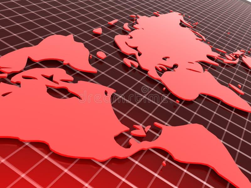 czerwone tło karty ilustracji