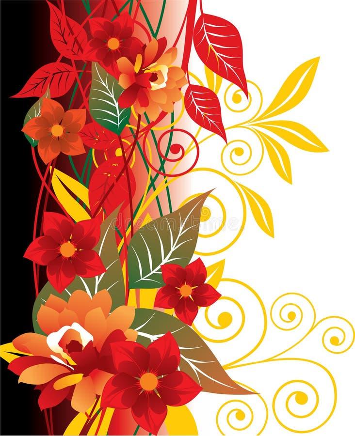 czerwone tło kwiecista ilustracji