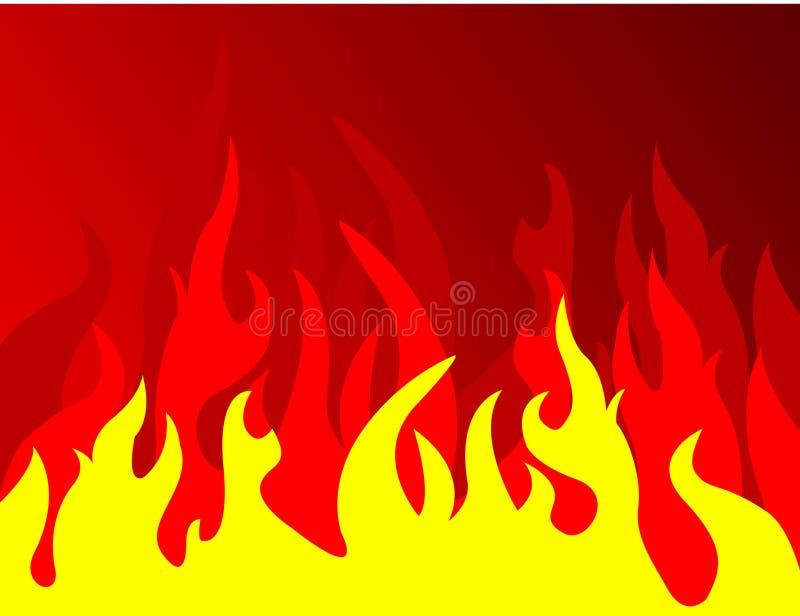 czerwone tło przeciwpożarowe royalty ilustracja