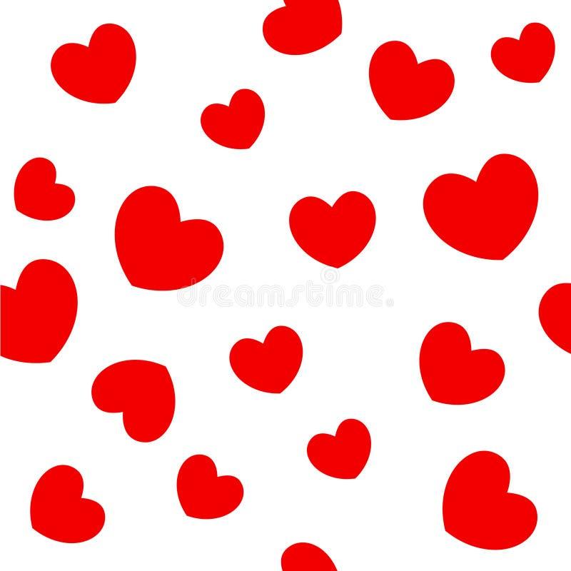czerwone tło serca royalty ilustracja
