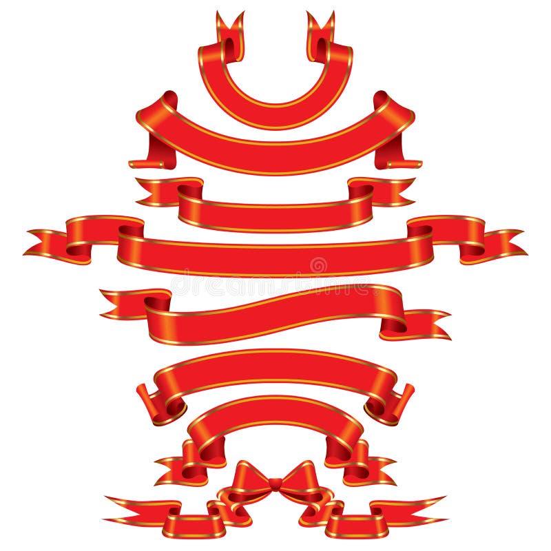 czerwone transparenty ilustracji
