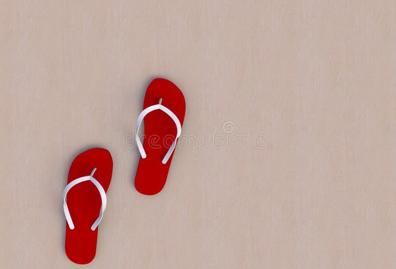 Czerwone trzepnięcie klapy na podłodze royalty ilustracja