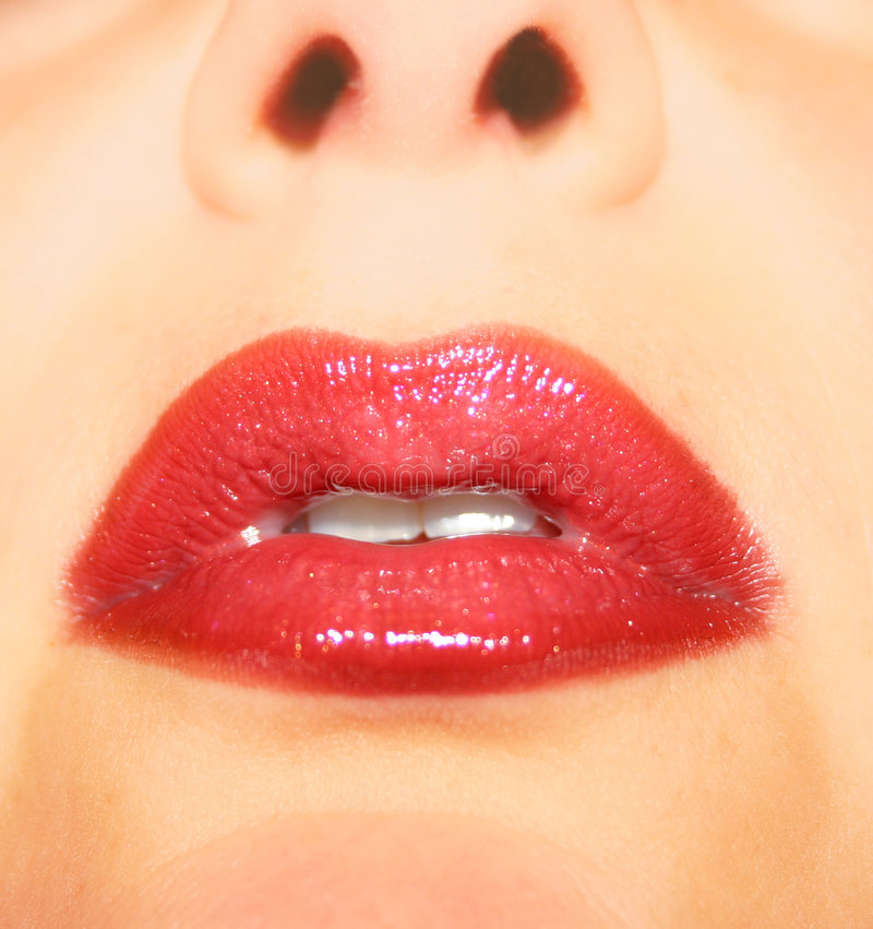 czerwone usta obrazy royalty free