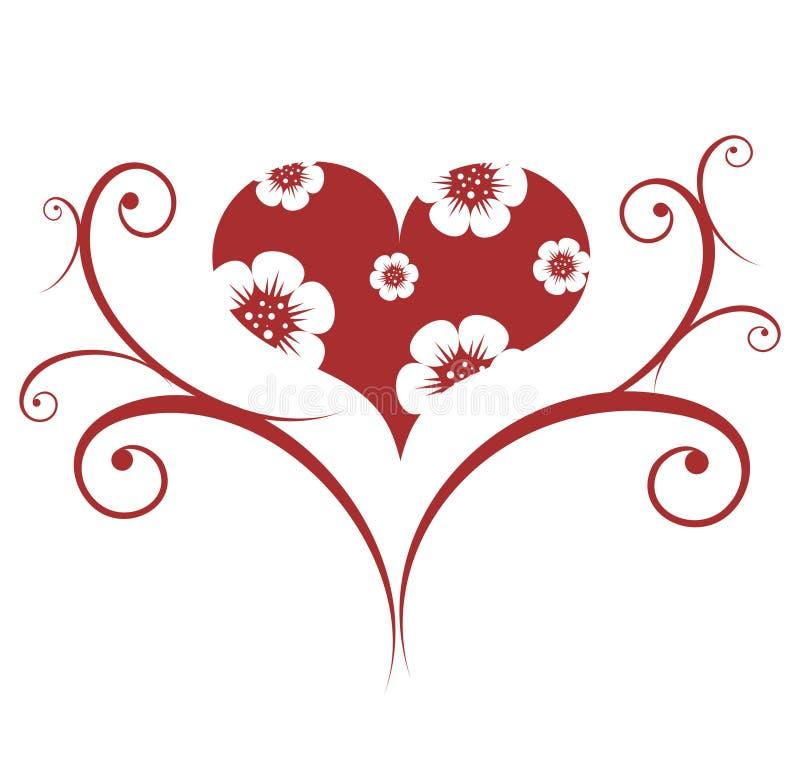 czerwone valentines ornament royalty ilustracja