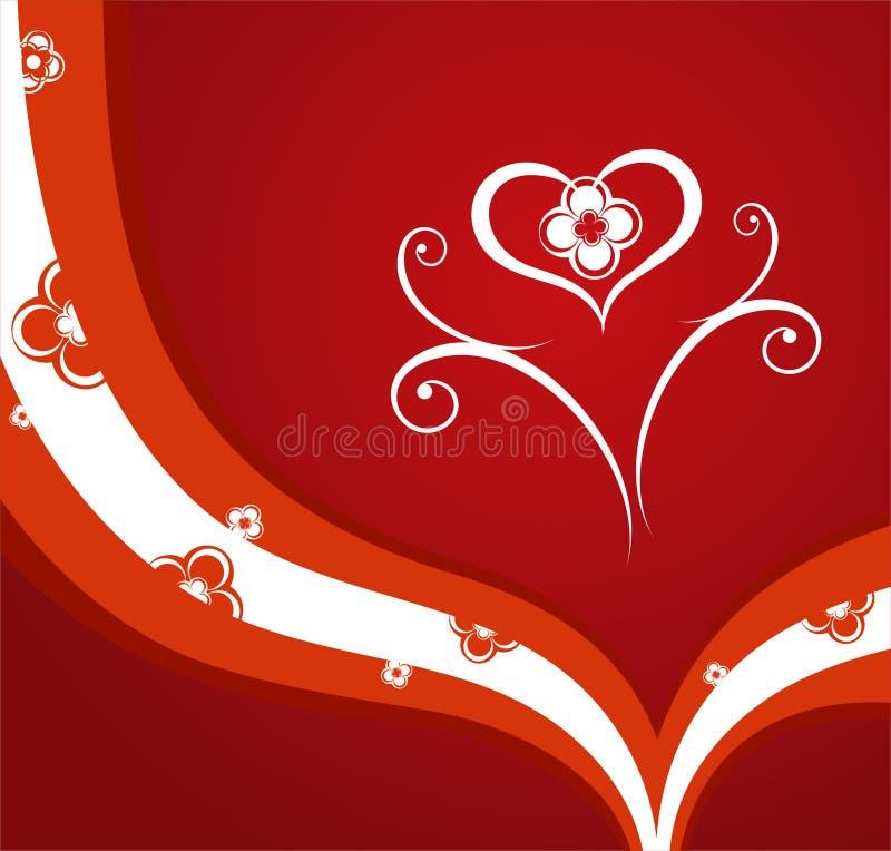 czerwone valentines tło ilustracja wektor