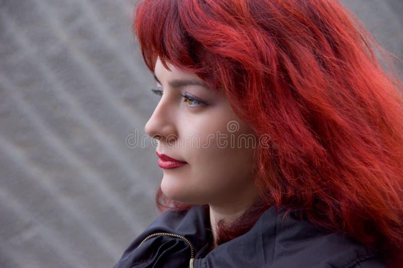 czerwone włosy kobiety zdjęcie royalty free