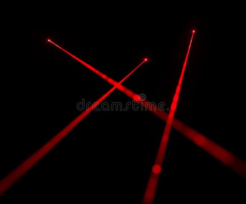 Czerwone wiązki laserowe zdjęcia royalty free