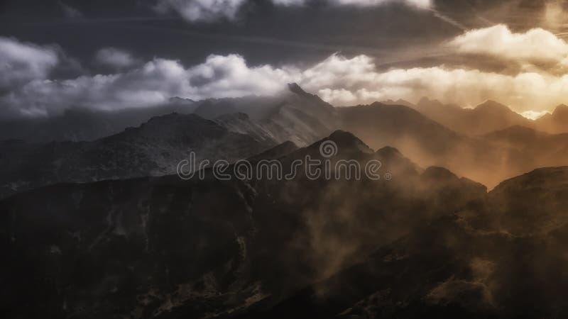 Czerwone Wierchy, montagna occidentale di Tatras in Polonia immagine stock