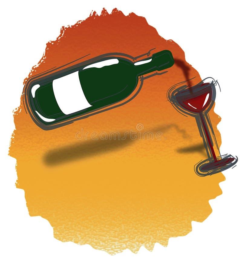 czerwone wino ilustracja wektor