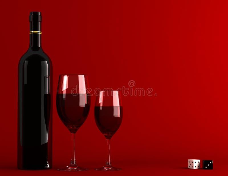 Czerwone wino royalty ilustracja