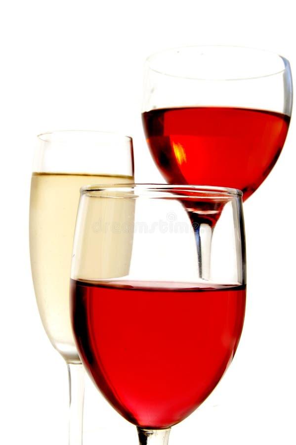 czerwone wino białe zdjęcie royalty free