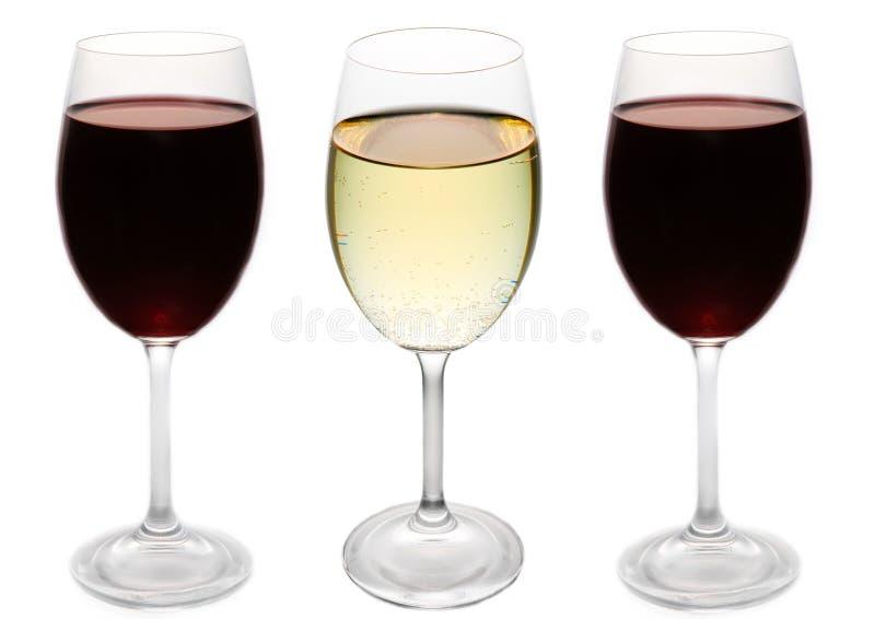 czerwone wino białe obraz royalty free
