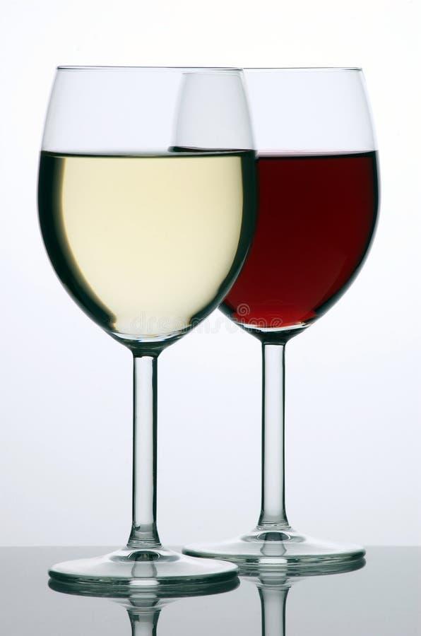 czerwone wino białe obrazy royalty free