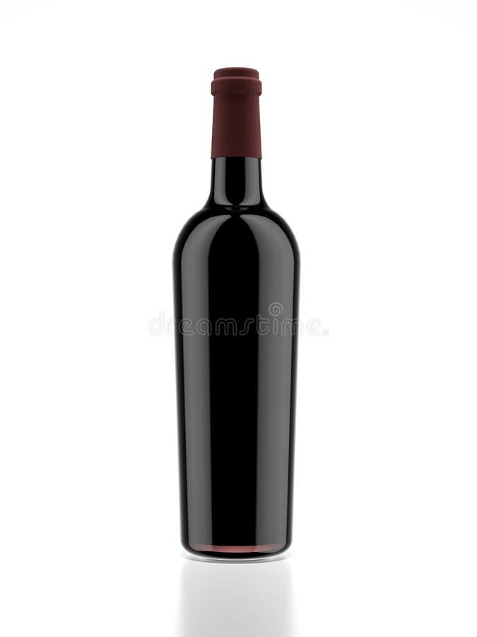Czerwone wino butelka royalty ilustracja