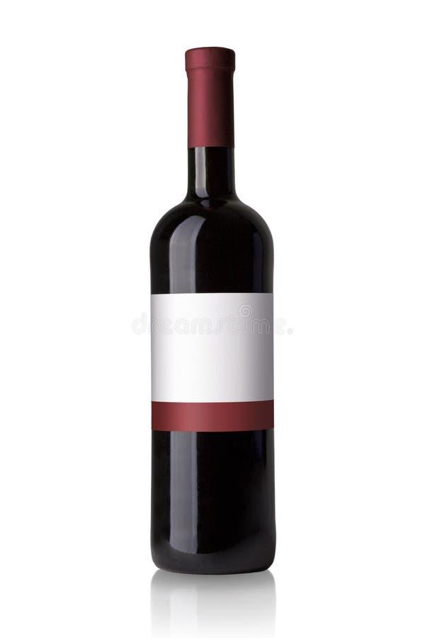 Czerwone wino butelka zdjęcia stock