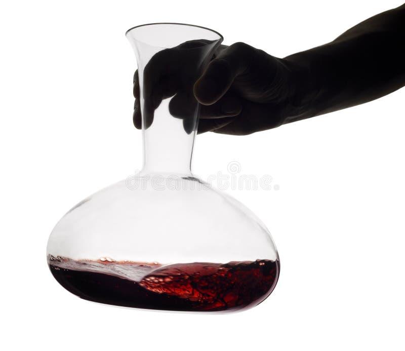 czerwone wino dekantatoru zdjęcie stock