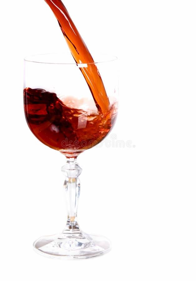 czerwone wino leje zdjęcia stock