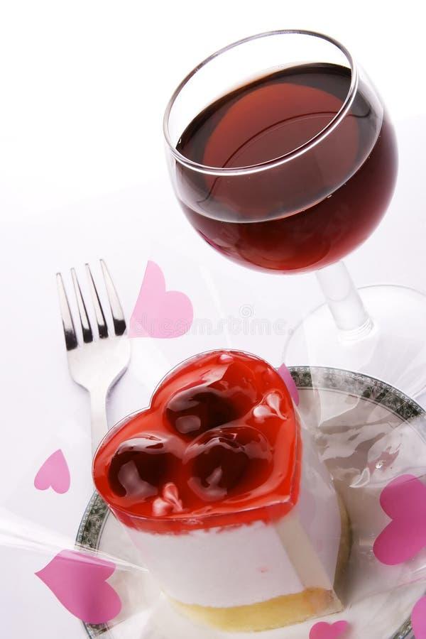 czerwone wino na deser obraz royalty free