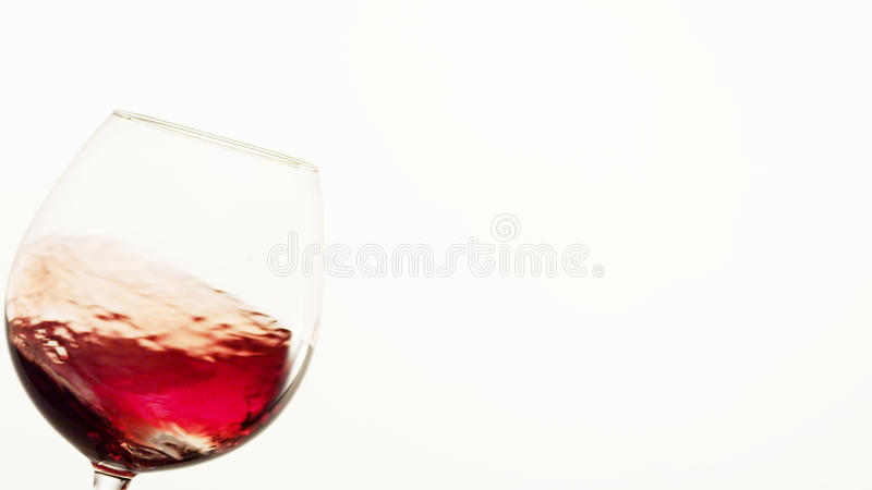 Czerwone Wino Poruszający Up w szkle zdjęcie stock