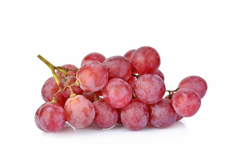Czerwone winogrona wyizolowane na białym tle zdjęcie stock