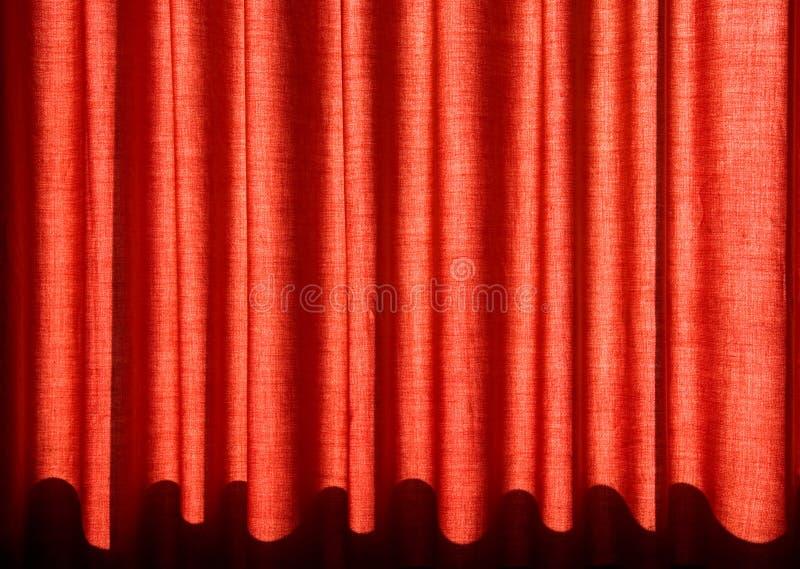 czerwone zasłony obraz stock