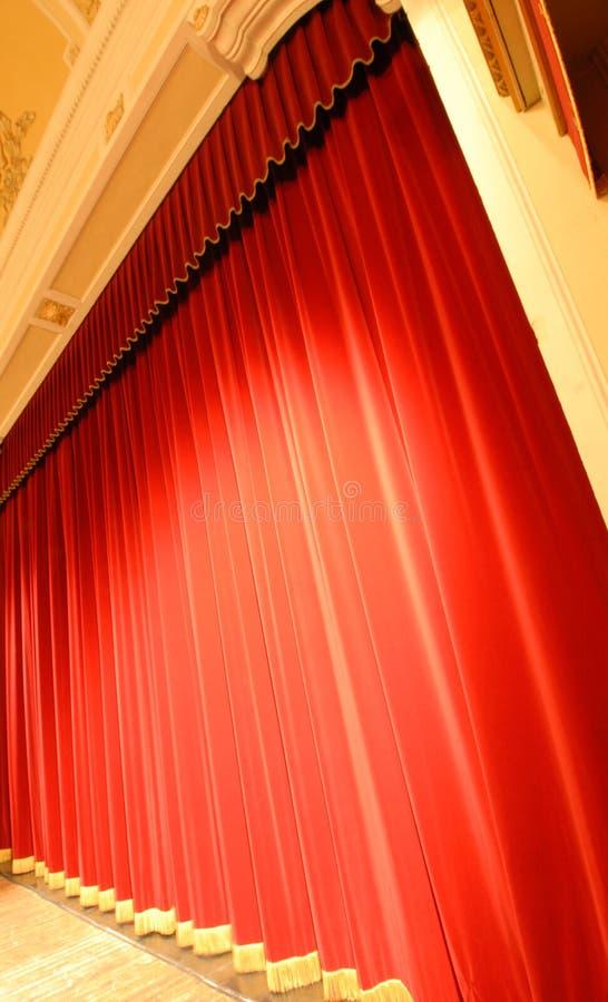 czerwone zasłony. zdjęcia royalty free