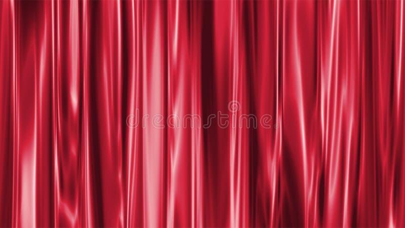czerwone zasłony. ilustracji