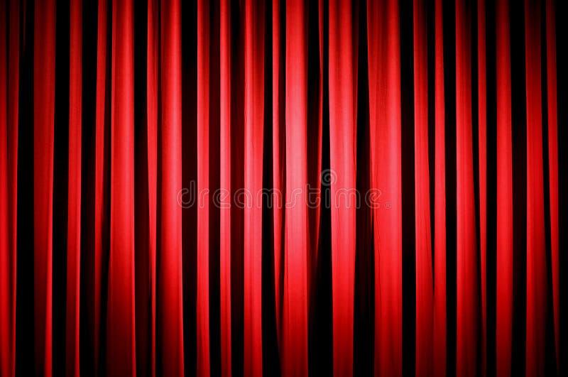 czerwone zasłony do teatru ilustracji