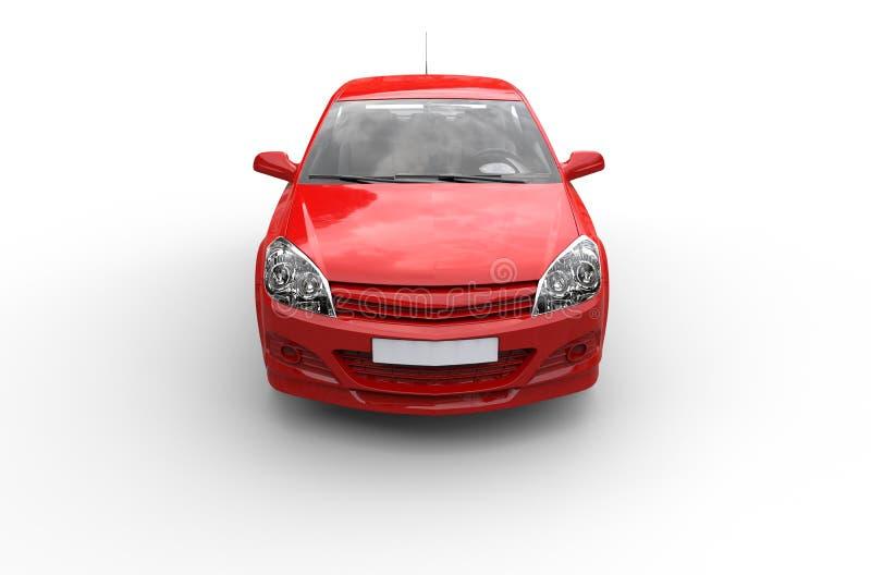 Czerwonego Ścisłego samochodu wierzchołka Frontowy widok zdjęcia royalty free