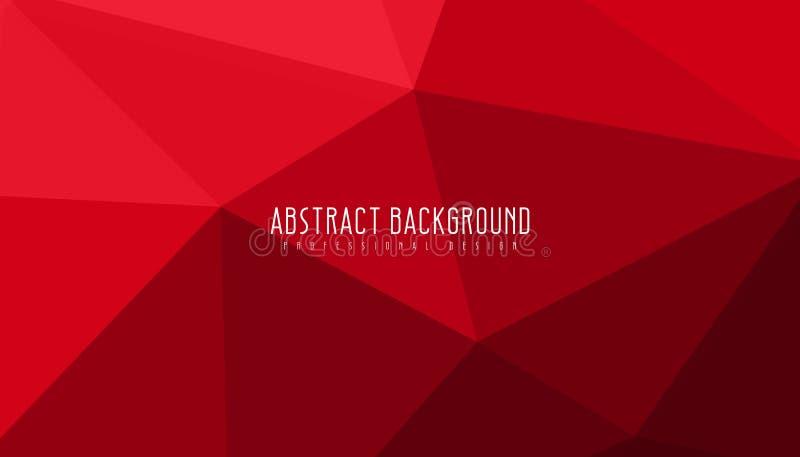 Czerwonego Abstrakcjonistycznego geometrycznego tła zadziwiająca wektorowa ilustracja ilustracja wektor