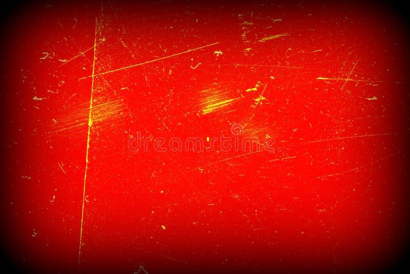 Czerwonego abstrakta porysowany tło winieta Grunge tekstura ilustracji