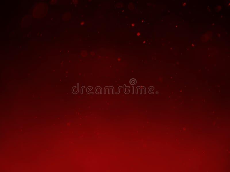 Czerwonego bokeh abstrakcjonistyczny tło i tekstura obrazy stock