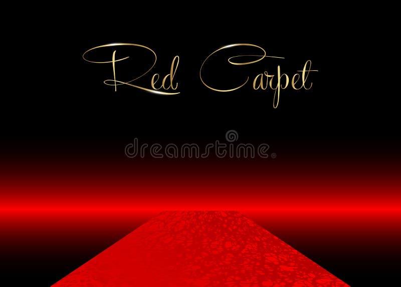 Czerwonego chodnika wektoru t?o Hollywood luksus i elegancki czerwonego chodnika wydarzenie, perspektywiczna ilustracja Czerwoneg royalty ilustracja