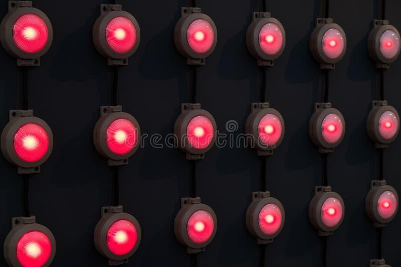 Czerwonego colour lampy w rzędy obrazy royalty free