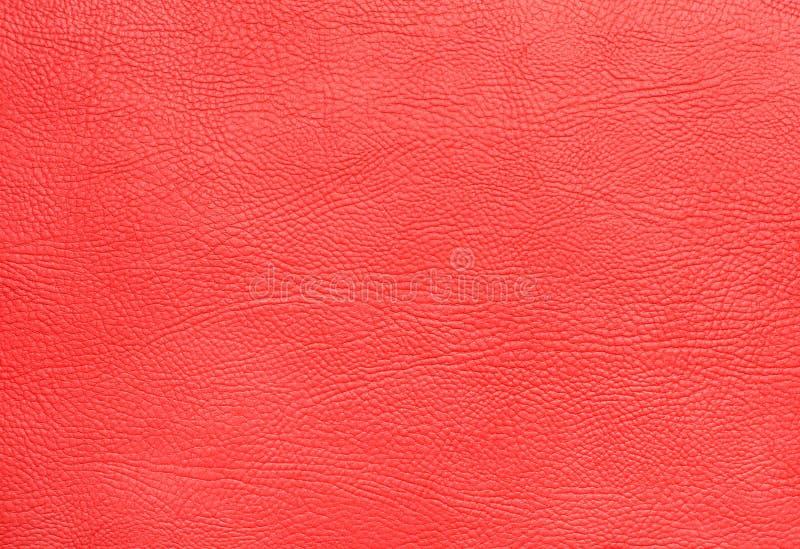 Czerwonego faux tekstury rzemienny zbli?enie zdjęcia stock
